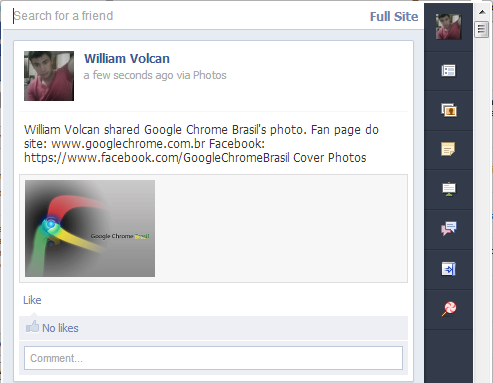 Facebook para Google Chrome